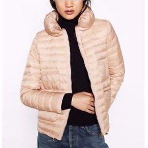 Zara Down Jacket Blush Pink Quilted Puffer Winter